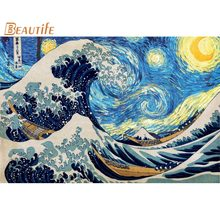 Hokusai – affiche en soie, grande vague, 40x60cm, 50x75cm,60x90cm, nouvelle collection