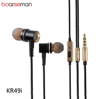 Original Boarseman KR49 In Ear Earphone DIY Fever HIFI Bass Earpods Dynamic Earbuds For Iphone 6s