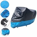 Motorcycle Cover Waterproof Outdoor UV Dust Protector Bike Rain Dustproof Cover Blue Black XXL XL L M