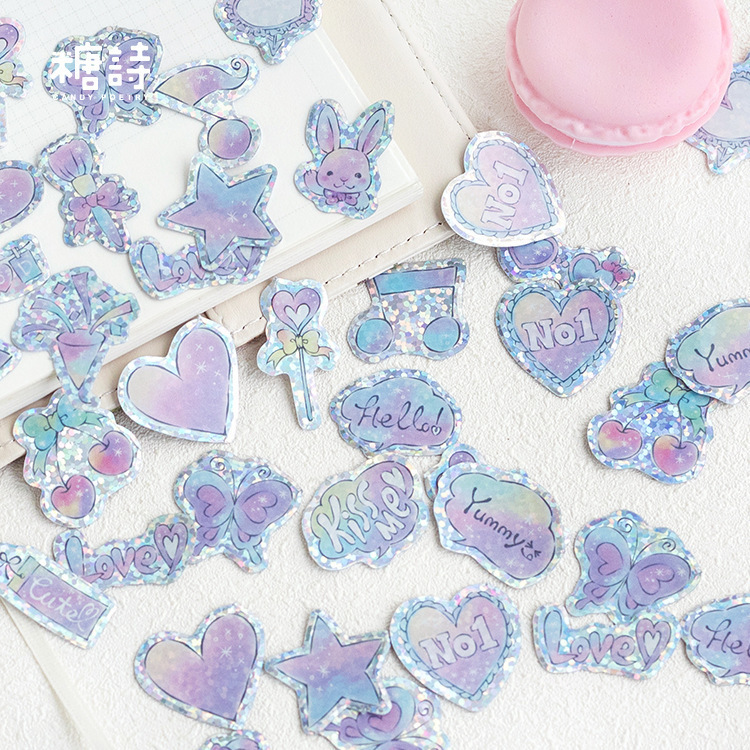 100PCS New Cute Girl Pink Children Stationery For DIY Albums Scrapbooking Diary Decoration Cartoon Depicting Stickers