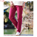 heavy discount linen long straight casual trousers women solid thin original reflesh lino slacks
