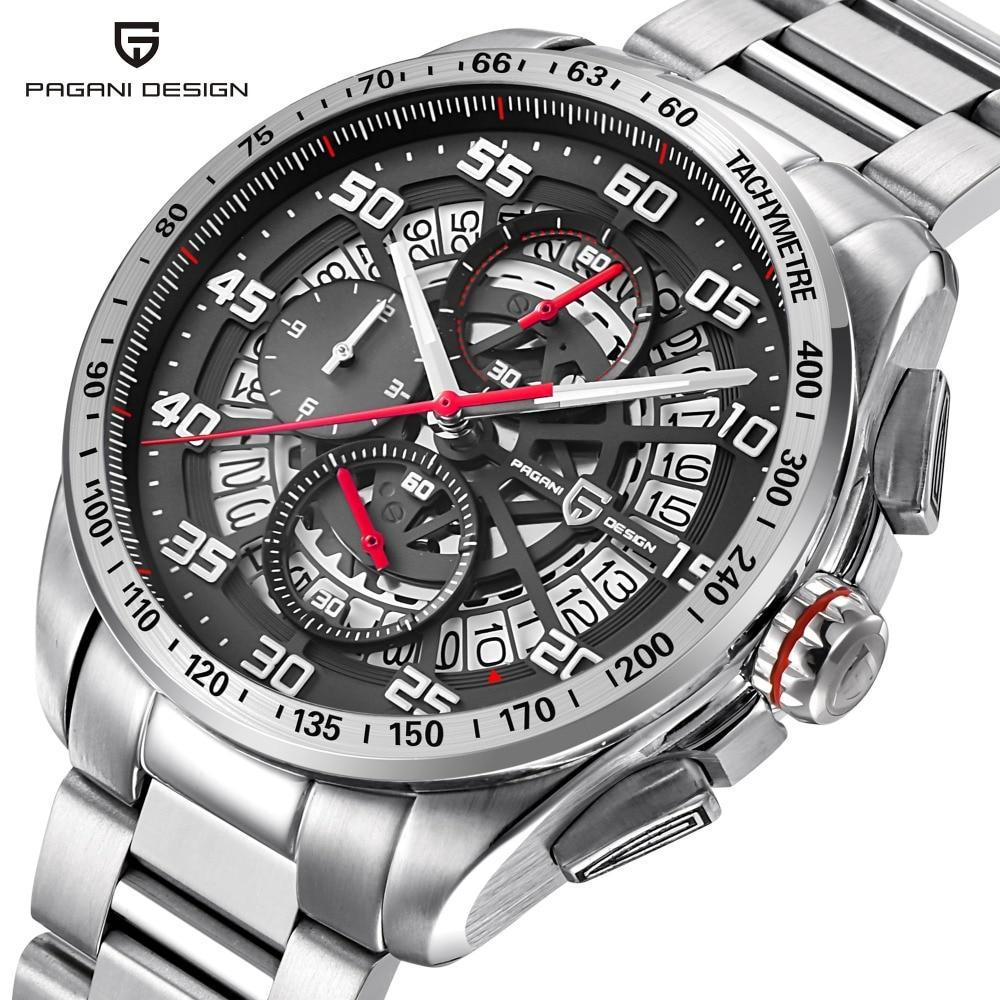 лучшая цена PAGANI DESIGN New Top Luxury Brand Mens Watches Sports Chronograph Waterproof Quartz Watch Men Relogio Masculino saat erkekler