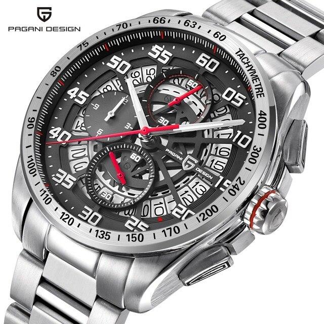 PAGANI DESIGN New Top Luxury Brand Mens Watches Sports Chronograph Waterproof Quartz Watch Men Relogio Masculino saat erkekler