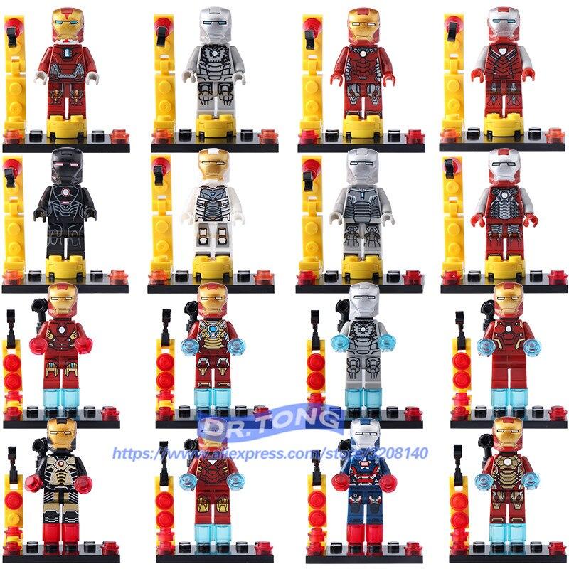 DR.TONG Single Sale Iron Man Superheros Building Blocks Childrens Toys MK1 MK25 War Machine