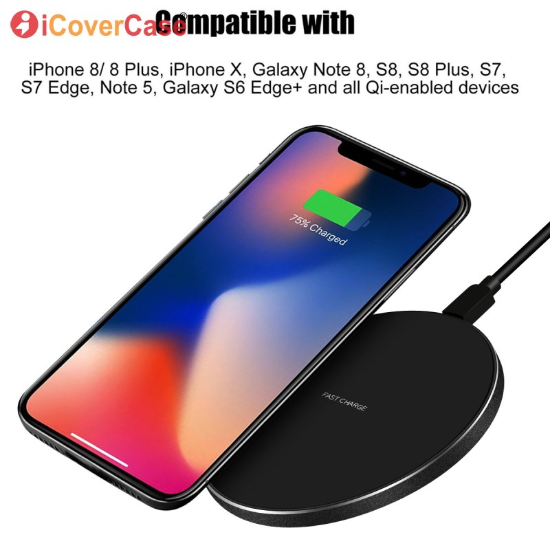 Wireless Charger For Samsung Galaxy S8 Mobile Phone Accessory Charging Pad Dock Power Case For Samsung S9 S8 Plus 8 9 Qi Charger