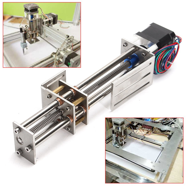 New 150MM CNC Z Axis Slide DIY Linear Motion Milling 3 Axis Engraving Machine With a Stepper Motor For Reprap Engraving Machine funssor 50mm 150mm slide stroke cnc z axis slide linear motion nema17 stepper motor for reprap engraving machine