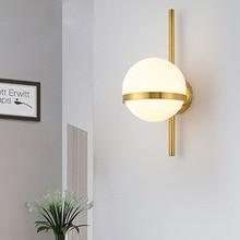 Нордическая Минималистичная светодиодная настенная лампа Thrisdar E27 со стеклянным шариком, светодиодный настенный светильник для кабинета, ванной, коридора, ресторана, отеля
