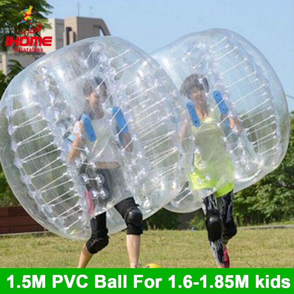 Ballon de Football gonflable de Football de bulle de PVC de 4 pièces 1.5 M avec une pompe à pied libre