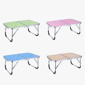 Image 3 - Faltbare Computer Tisch Tragbare Laptop Schreibtisch Drehen Laptop Bett Tisch kann Angehoben Stehenden Schreibtisch Tragbare Home Möbel