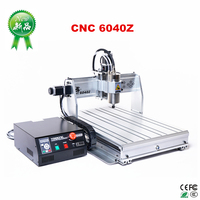 2.2KW 6040 cnc engraving router 3 Axis metal milling machine mach3 remote control limit switch work area 375*575*68mm