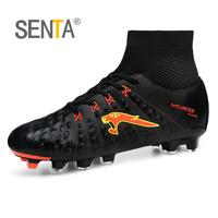 SENTA New Men Soccer Shoes FG Low Ankle Superfly Football Boots Kids Original Gold Metallic Cleats