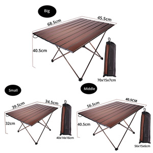 Image 4 - Big Small Brown folding portable picnic table chair  camping table outdoor furniture