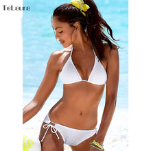 Push Up Halter Top Padded Bathing Suit