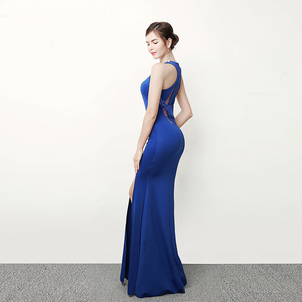 Royal Blue Evening Gowns Nightclub Chinese Oriental Wedding Dresses Modern  Qipao Traditional Dress Sexy Cheongsam Women -in Cheongsams from Novelty ... 012e068726fb