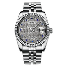 цена Men Watch Full Diamond Gold Watch Brand Man Sport Watches  Automatic Mechanical Watch Relogio Masculino for Men Waterproof Date онлайн в 2017 году