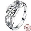 Square Multicolor Zirconia 925 Sterling Silver High Grade Rings Women Bridal Bridesmaids Fashion Bohemia Jewelry Luxury Gift