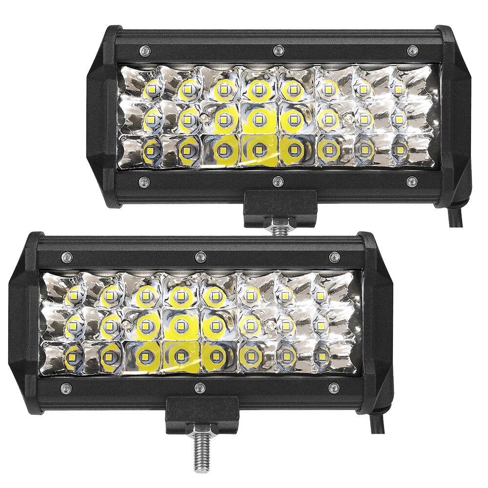 2 шт. 72 Вт светодиодный свет бар 6000 К вождения worklights пятно луча для бездорожья грузовика автомобилей ATV внедорожник УАЗ 4×4 4WD рампы IP67 12 В 24 В ав…