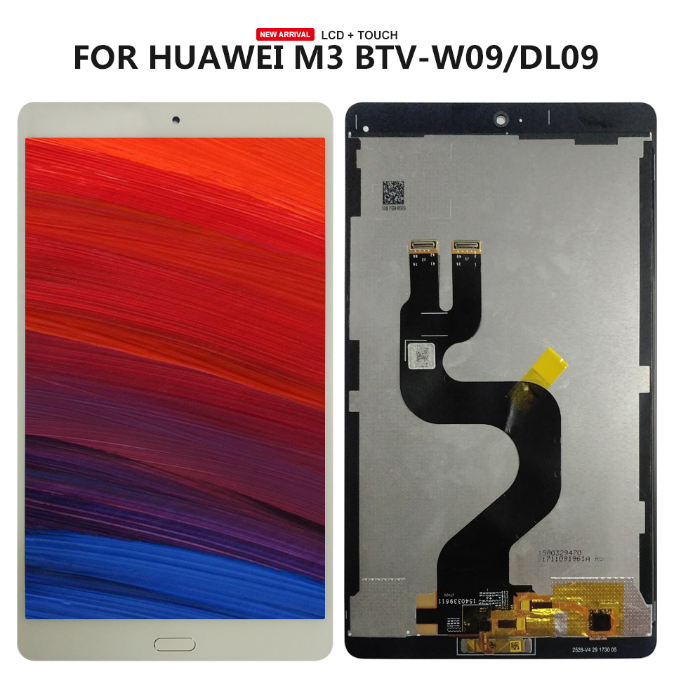 8.4 inch For Huawei MediaPad M3 BTV-W09 BTV-DL09 lcd display screen with touch screen digitizer assembly BLACK FLEX CABLE for huawei mediapad m3 8 4 multifunction removable wireless bluetooth keyboard case for huawei m3 btv w09 btv dl09