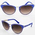 Tendencia de la moda 2016 nuevo estilo de Moda Diseñador mujeres gafas de sol cuadradas TOM PARA TF0373 ARTÍCULO El de unión de metal marca gafas de sol