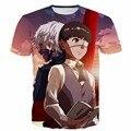 Anime de Tóquio Ghoul t Cabelo Branco Kaneki tshirts Impressão Homens mulheres Verão Casual camisetas Hipster t 3d camisa Harajuku tops