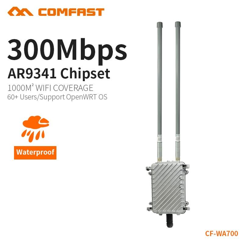 COMFAST zunanji brezžični usmerjevalnik za WIFI projekt pokritosti 300 Mbps brezžični AP 2,4 Ghz proti dežju zunanja vrata dostopna točka CF-WA700