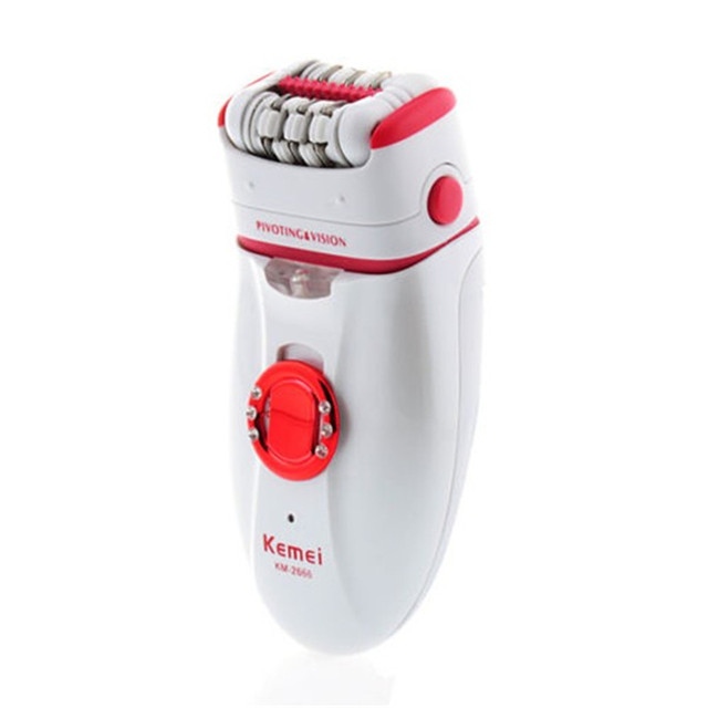 Kemei Women Personal Electric  Lady Hair Remover Trimmer Razor Shaver Epilator Depilator Shaving Machine Double Head