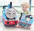 20cm High Quality cute  thomas small music train child puzzle plush toy cartoon dolls birthday gift christmas 1pcs