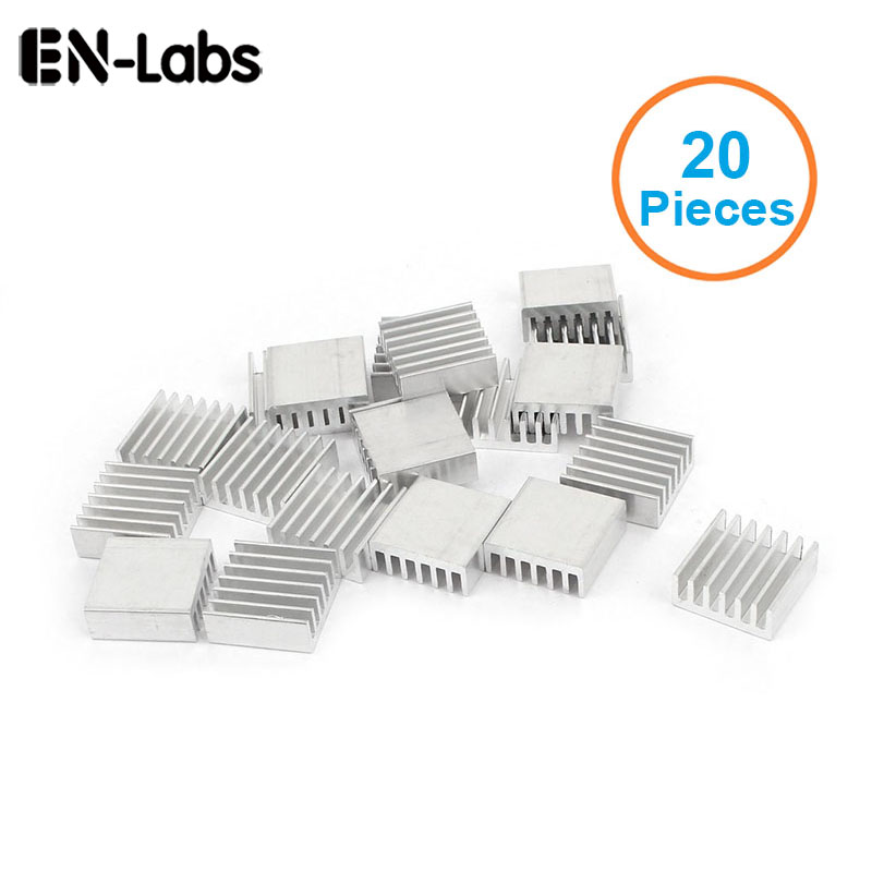 En-Labs New 20pcs Silver 14x14x6mm Aluminum Heat Sink Radiator Heatsink for CPU,GPU, Electronic Chipset heat dissipation radiator aluminum heatsink extruded profile heat sink for electronic chipset l059 new hot
