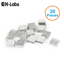 New 20pcs Silver 14x14x6mm Aluminum Heat Sink Radiator Heatsink for CPU,GPU, Electronic Chipset heat dissipation Free Shipping