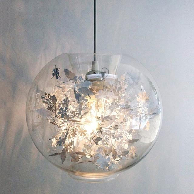 A1 Glazen bal hanglampen slaapkamer lamp creatieve
