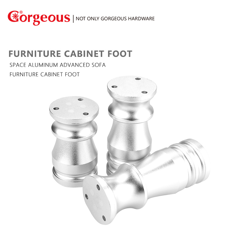 Gorgeous Space aluminum thickening cabinet legs furniture sofa legs mats coffee table legs support legs bed feet adjustable 5cm 6 8 10 12cm height adjustable support furniture legs feet stainless steel table bed sofa level feet kitchen cabinet legs