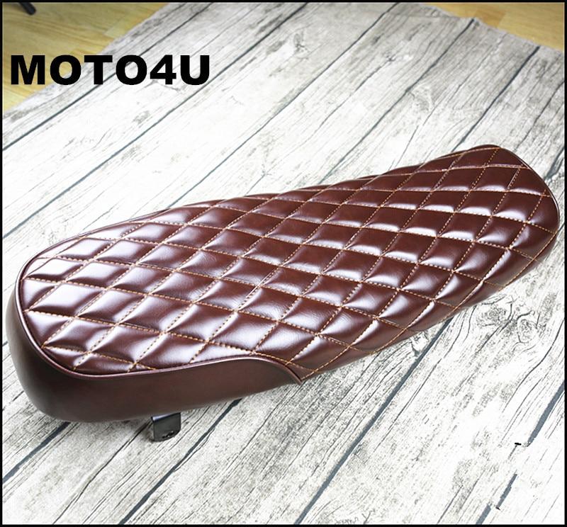 MOTO4U 64cm Motorcycle Hump Vintage Saddle Universal Cafe Racer Seat for SuzuKi GS Yamah XJ Honda MASH125 MASH20 MUTT125