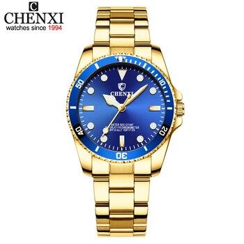 0d367de58e84 CHENXI relojes de marca mujeres de lujo vestido reloj relojes de cuarzo  Señora De Oro relojes de mujer relojes de cuarzo Relogio Feminino
