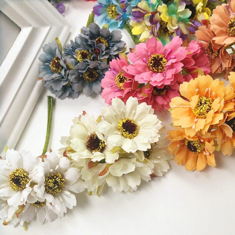 12 PCS/artificial silk cherry blossom wedding bouquet home ...