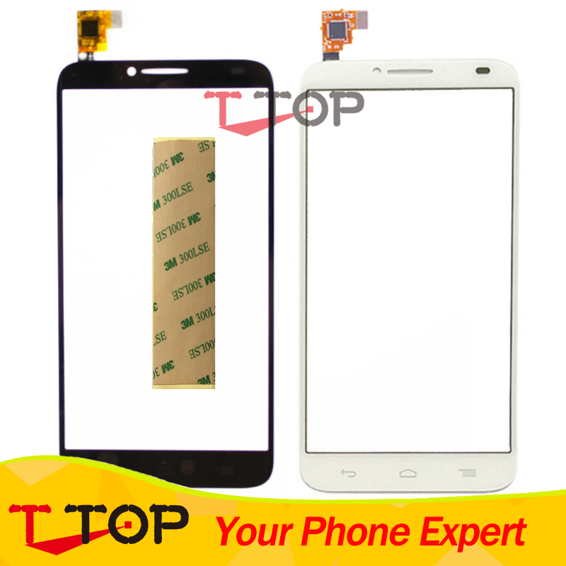 For Alcatel One Touch Idol 2 6037 OT6037 6037Y 6037K Touch Screen Panel Digitiizer Sensor Glass With Tape 1PC/Lot