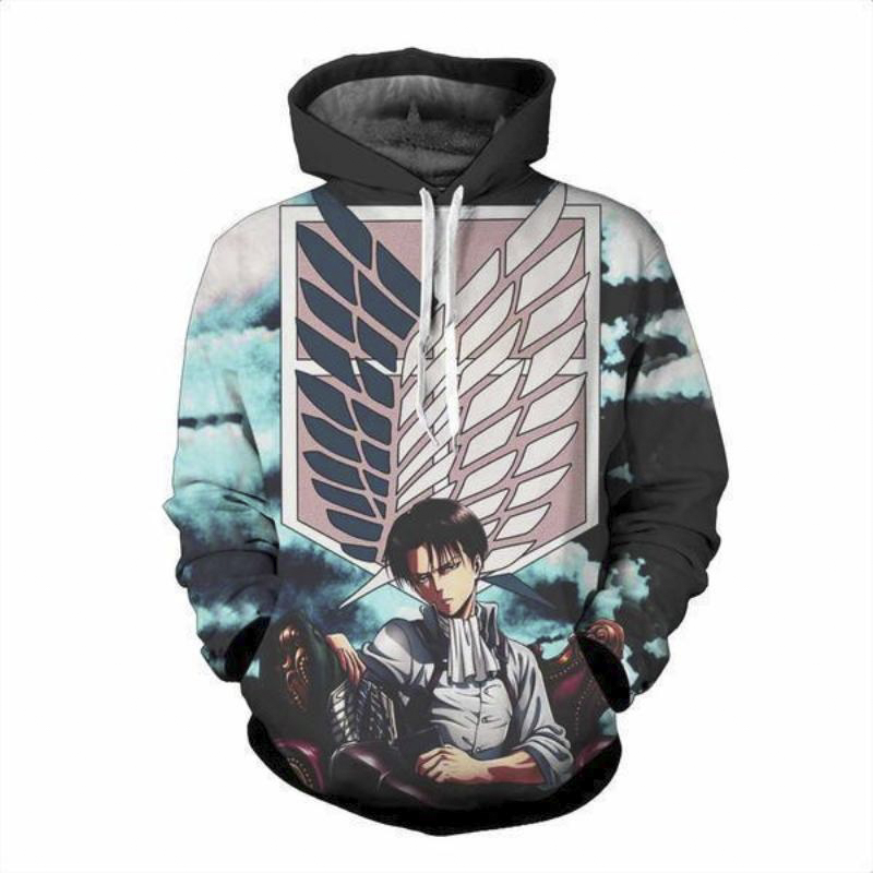 Anime Hoodie Men/Women Attack on Titan 3D Print Hoodies Harajuku Sweatshirt Couple Tops Streetwear Family Gift Men Clothes 2019