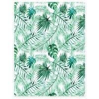 HommomH Blanket Throw Comfort Warm Soft Plush Throw For Sofa Palm Leaf Plant Green