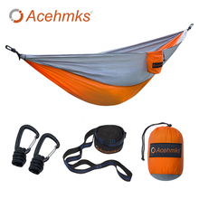 Acehmks Aluminum snap-in camping hammock Portable folding ultralight parachute Garden swing Nylon hammock цена в Москве и Питере