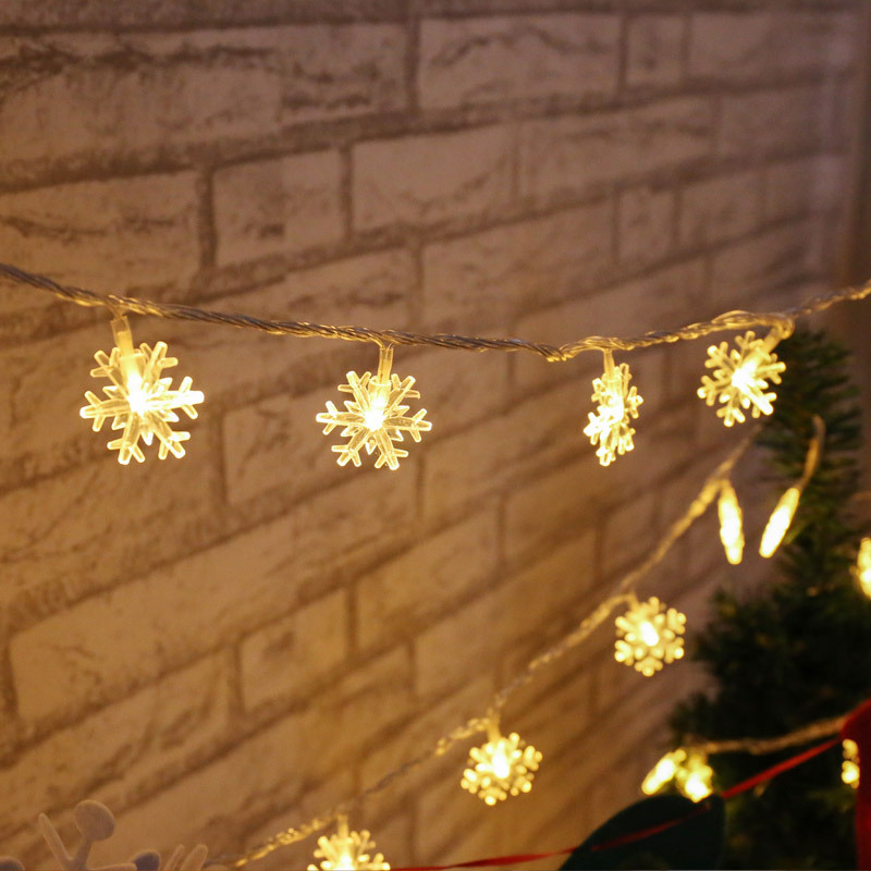 aliexpresscom buy led string lights snowflake christmas color holiday lights battery models christmas tree decorative lights from reliable string lights