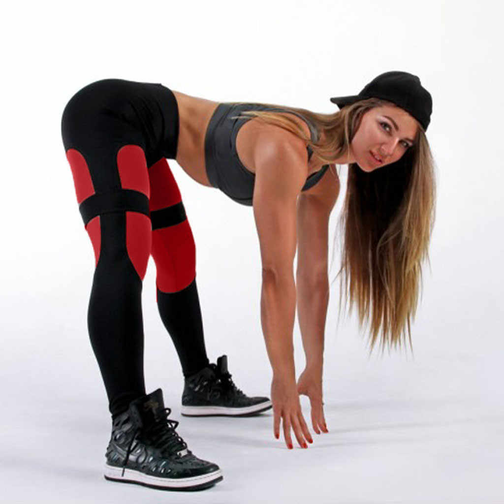 Feitong Mode Hohe Taille Leggings Frauen Fitness Workout Leggings Gothic Schwarz Patchwork Leggins Mujer Jeggings