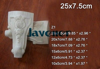 Z1 -25x7.5cm Wood Carved Onlay Applique Carpenter Decal Wood Working Carpenter Leg Decoration