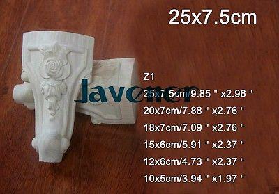 Z1 -25x7.5cm Wood Carved Onlay Applique Carpenter Decal Wood Working Carpenter Leg Decoration