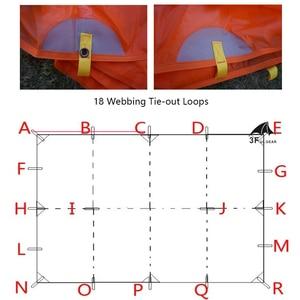 Image 5 - 3f ul engrenagem ultraleve à prova d15água 15d silicone revestido lona de náilon sun shelter para rede barraca acampamento toldo dossel