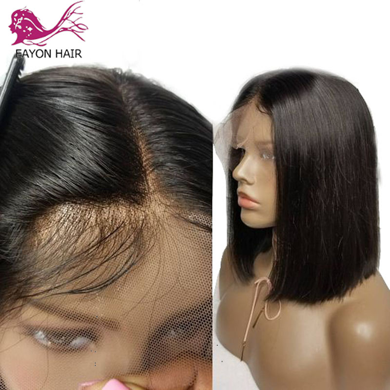 EAYON Bob Wig 13x6 Short Lace Front Human Hair Wigs Baby Hair For Women Pre Plucked