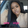 """New Free part 3-4"""" synthetic lace front wig glueless baby hair lace front &no lace&full lace wig for African Americans black wig"""