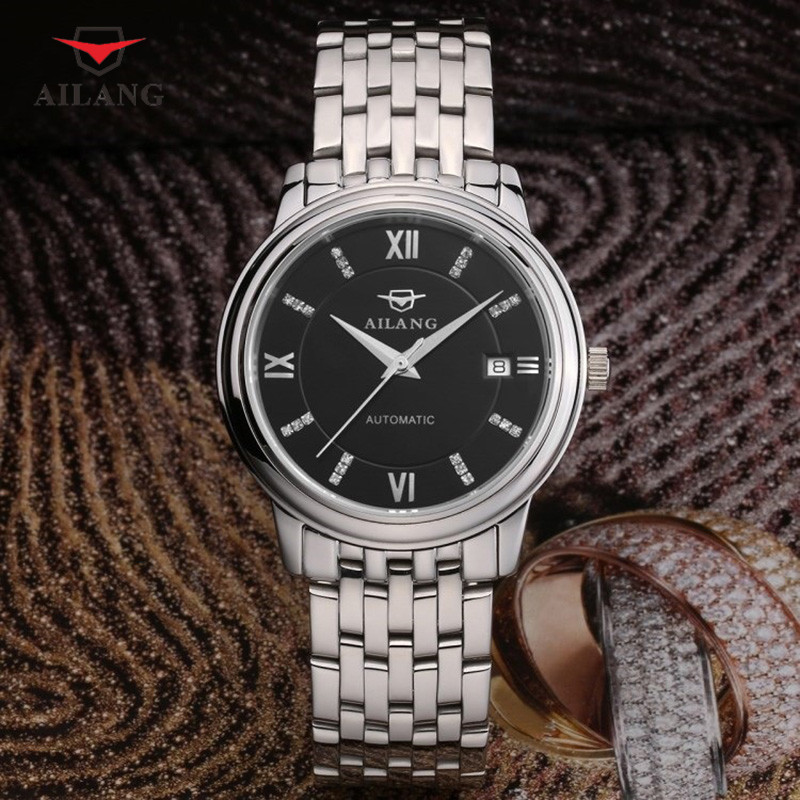AILANG Brand Luxurious Mechanical Wristwatches Stainless Steel Water Resistant Wristwatch Men's Automatic Mechanical Watch A014 цена