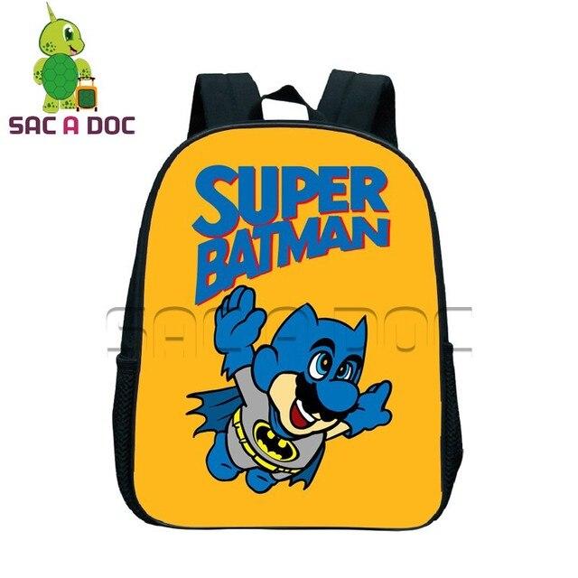 fea84daf28edd Cartoon Super Batman Plecak Plecak Szkolny dla Dzieci Chłopcy Dziewczęta  Torba Książka Codziennie Plecak Funny Batman