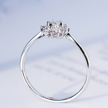 0.32ctw Real Diamond Engagement Ring Prong Setting Solitaire Solitaire Style 18k White Gold For Women 1