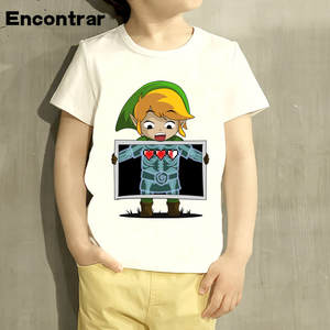 Short-Sleeve Tops T-Shirt Kids Children Boys/girls Cute Casual Links Great HKP5013 Photo-Design