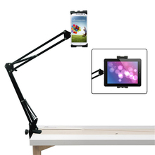 Flexible universal tablet soporte soporte para ipad 234 mini tablet holder cama escritorio montaje de la tableta para 4-10.5 pulgadas para el iphone teléfono